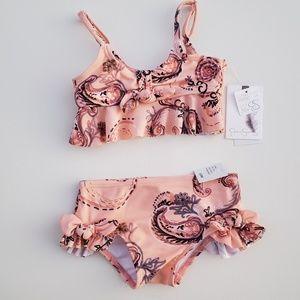 Jessica Simpson Melba Paisley Print Peach Bikini